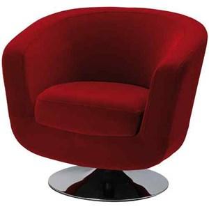 fotel barowy Velur czerwony
