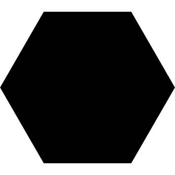 Basic Black Hex 25 22x25 Heksagon