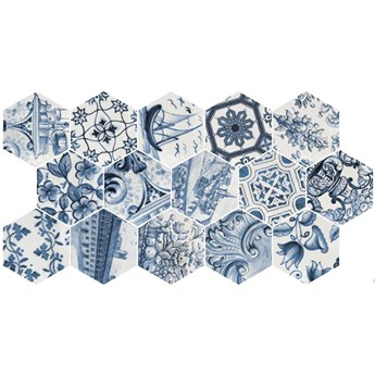 Hexatile Patchwork LISBOA Brillo 17,5x20