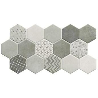 Habitat Hex Ice 26,5x51 płytka w kształcie heksagonu
