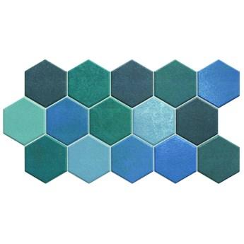 Hex Aquamarine 26,5x51 płytki heksagonalne