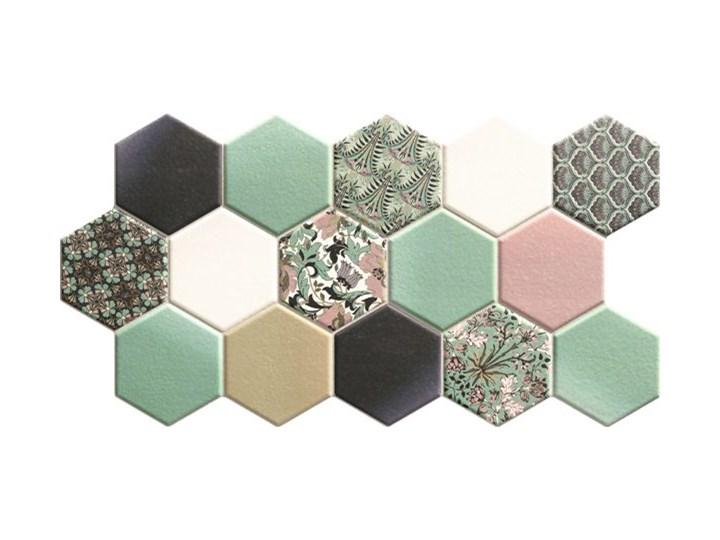 Hex Nouveau Green 26,5x51 heksagony na podłogę 26,5x51 cm Mozaika Płytki ścienne Powierzchnia Matowa