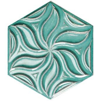 Ivy Teal 28,5x33 płytki heksagonalne ścienne