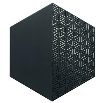 Opal Deco Black 28,5x33 płytki heksagonalne czarne