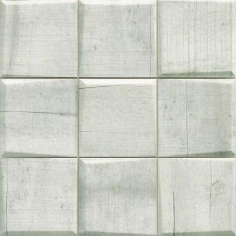 Pattern Wood White 33x33 płytka ścienna trójwymiarowa