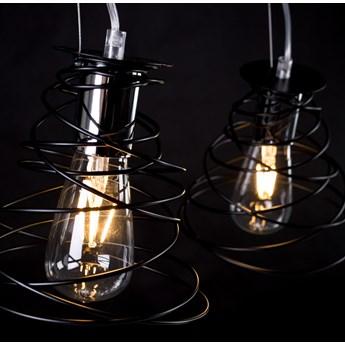 TWIST 3 BLACK 304/3 zakręcona wisząca lampa modern design czarna