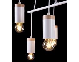 SKANDIA 6 WHITE 798/6 lampa wisząca styl skandynawski regulowana drewno biała