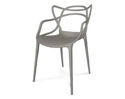 Krzesło ażurowe nowoczesne do ogrodu stylowe na balkon taras masters szare 547