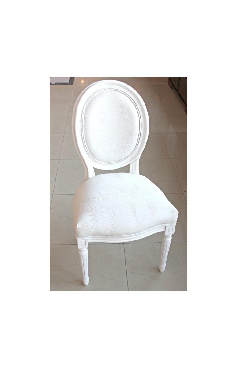 Białe Stylizowane Krzesło