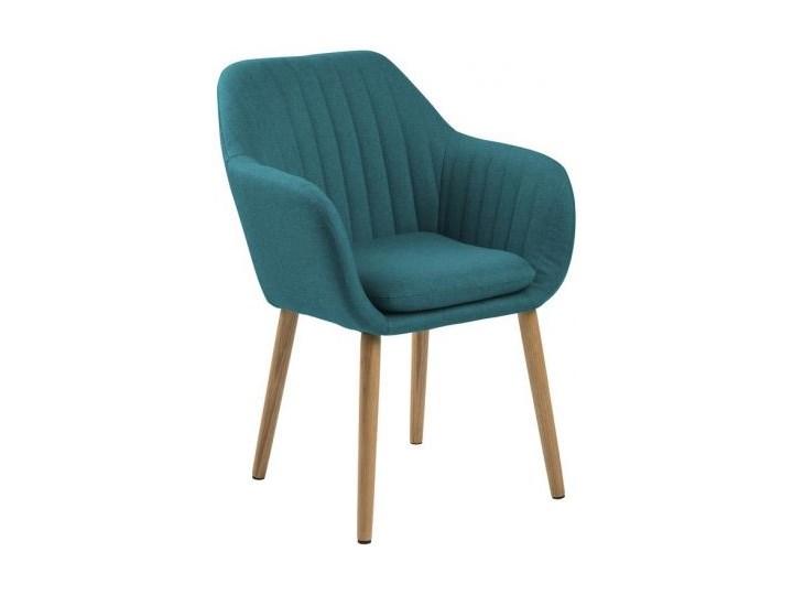 Krzesło Emilia 57x83 cm petrol nogi drewniane