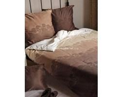 Pościel satyna bawełniana Essential Collection beżowo-brązowa 160x200