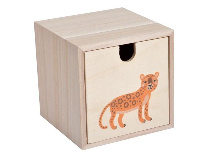 Pudełko drewniane dla dzieci HELLO JUNGLE, motyw Pantery