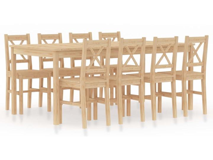 vidaXL 9-częściowy zestaw mebli do jadalni, drewno sosnowe