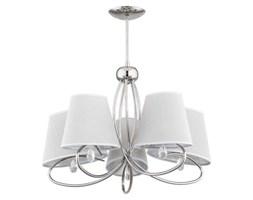 Lampa sufitowa żyrandol z abażurami SIENA chrom/szary śr. 61cm
