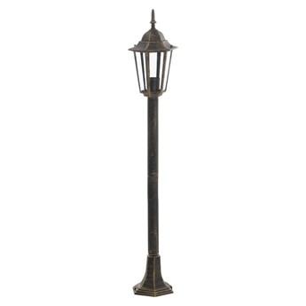 Lampa ogrodowa stojąca LIGURIA IP44 stare złoto E27 POLUX