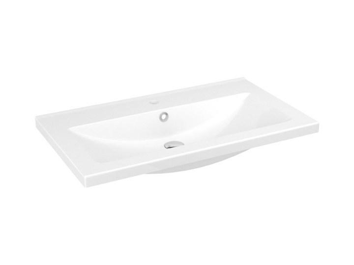 Umywalka ceramiczna GoodHome Nira 81 cm z syfonem Ceramika Prostokątne Kategoria Umywalki