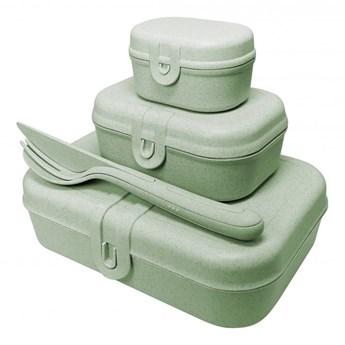 zestaw lunchbox ze sztućcami PASCAL READY ORGANIC zielone KOZIOL