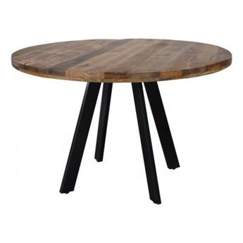 Stół Iron Craft 120 cm okrągły naturalny Mango 39584