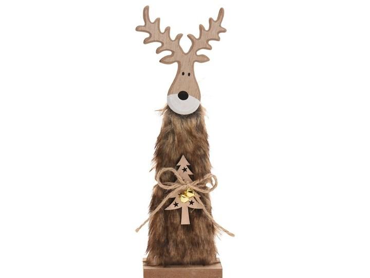Świąteczny Renifer drewniany Erwin brązowy, 30 cm, 30 cm