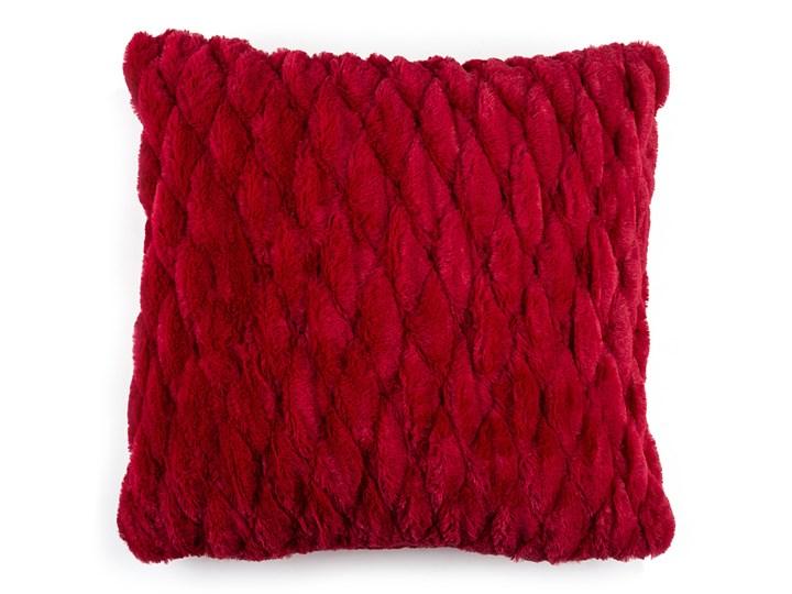 BO-MA Poszewka na poduszkę włochata pikowana czerwony45 x 45 cm Poliester Poliester