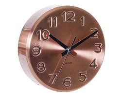 Zegar ścienny Bold Engraved numbers steel copper by Karlsson