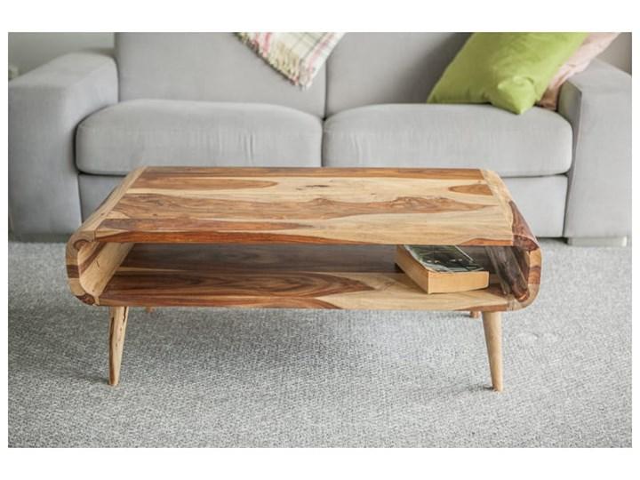 Stolik GUBBE (100x50x40cm, Krowa, Palisander indyjski) Drewno Drewno Styl Nowoczesny Drewno Drewno Prostokątne Styl Nowoczesny