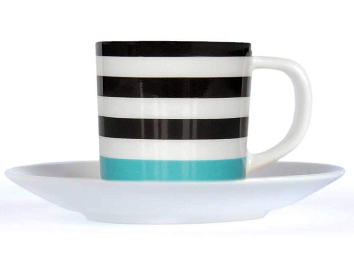 Filiżanka do espresso ze spodeczkiem, porcelanowe naczynie o modnej stylistyce Filiżanka ze spodkiem Filiżanka do kawy Porcelana