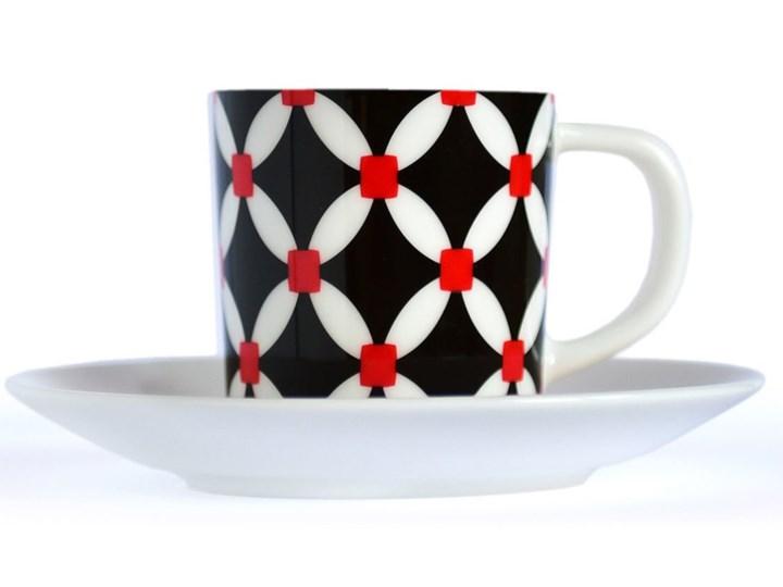Filiżanka z talerzykiem do kawy, porcelanowe naczynie w nowoczesne wzory do espresso Filiżanka ze spodkiem Filiżanka do espresso Filiżanka do kawy Porcelana