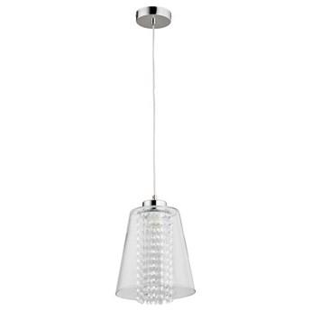 Lampa wisząca zwis kryształowa MARINE chrom/transparentny śr. 23cm