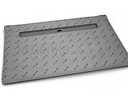 Płyta prysznicowa 119x89 cm prostokątna z odpływem liniowym Basic na dłuższym boku Radaway 5DLA1209A, 5R095B, 5SL1