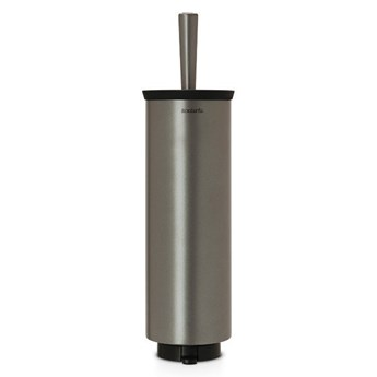 Brabantia - Szczotka do WC w obudowie, mocowana do ściany - platynowa