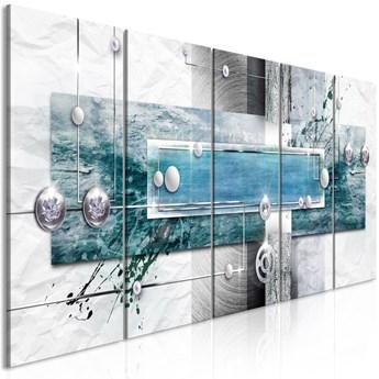 Obraz - Tajemniczy mechanizm (5-częściowy) wąski niebieski