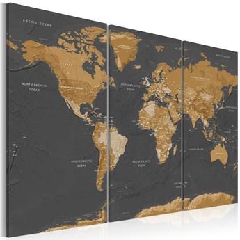 Obraz -  Mapa świata: Nowoczesna estetyka