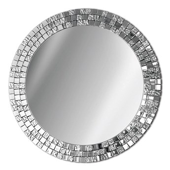 Okrągłe lustro AUREA w srebrnej ramie