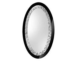 Duże lustro owalne Glamour czarne