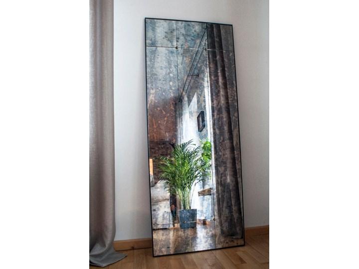 Lustro postarzane Pin Antique Ścienne Lustro z ramą Prostokątne Kolor Czarny Pomieszczenie Salon