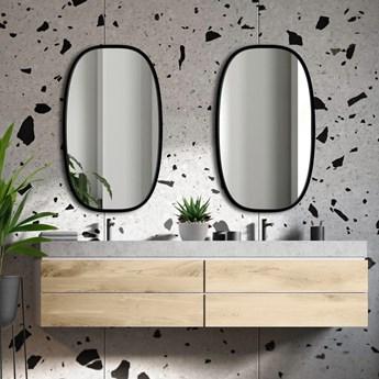 Lustro Dolio – czarne owalne do łazienki
