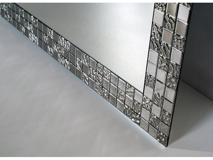 Lustro AUREA SQ srebrne Prostokątne Lustro z ramą Ścienne Pomieszczenie Łazienka