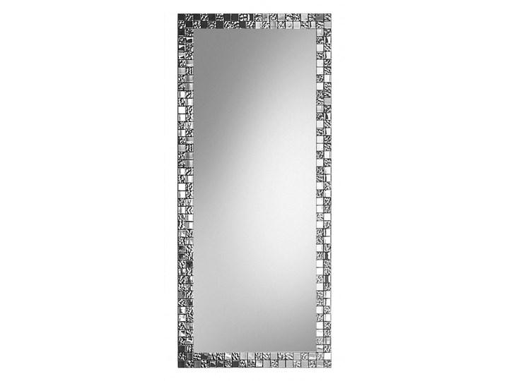 Duże lustro AUREA SQ Slim w srebrnej ramie Ścienne Lustro z ramą Prostokątne Styl Glamour