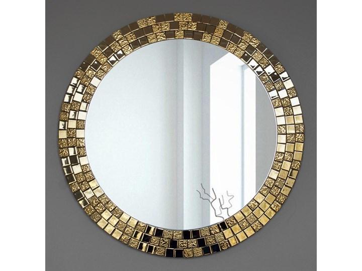 Lustro Aurea Gold Lustro z ramą Ścienne Okrągłe Styl Klasyczny