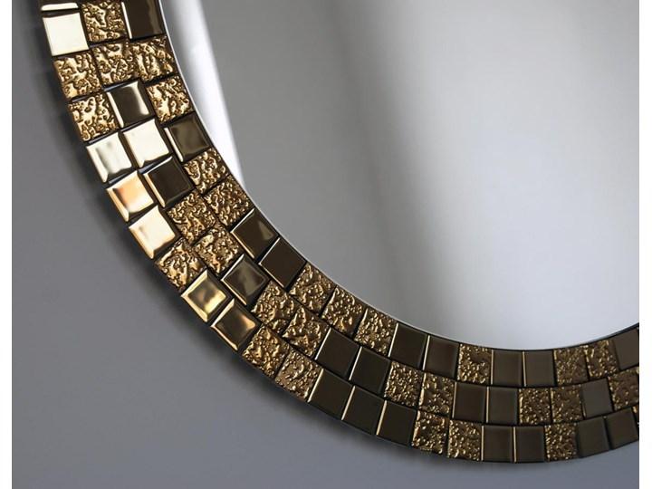 Lustro Aurea Gold Okrągłe Ścienne Lustro z ramą Styl Glamour