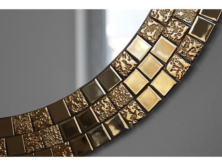 Lustro Aurea Gold Ścienne Lustro z ramą Okrągłe Pomieszczenie Przedpokój
