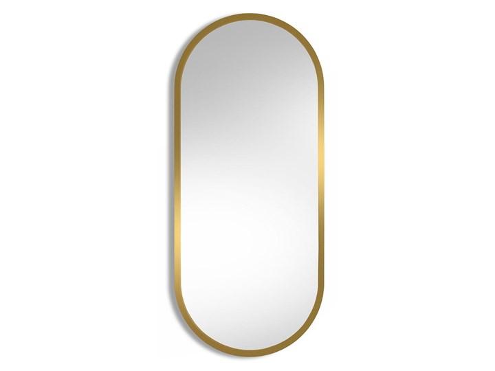 Lustro Ambient – ze złotą ramą Styl Skandynawski Ścienne Lustro z ramą Owalne Kolor Złoty