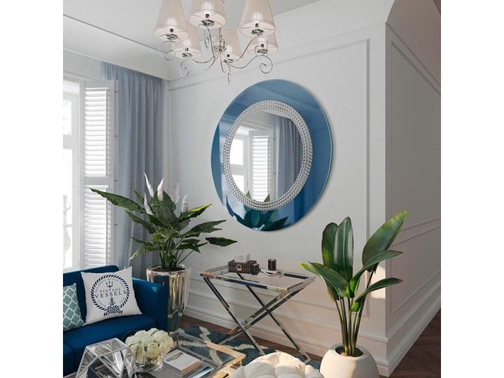 Lustro Elegance niebieskie Ścienne Okrągłe Lustro z ramą Kategoria Lustra