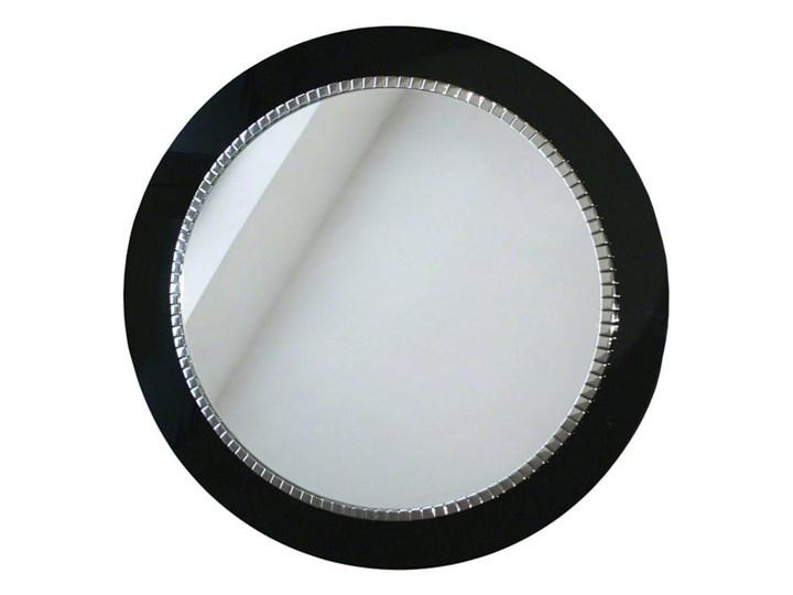 Lustro Bracelet – łazienkowe glamour czarne Lustro z ramą Prostokątne Okrągłe Ścienne Pomieszczenie Sypialnia