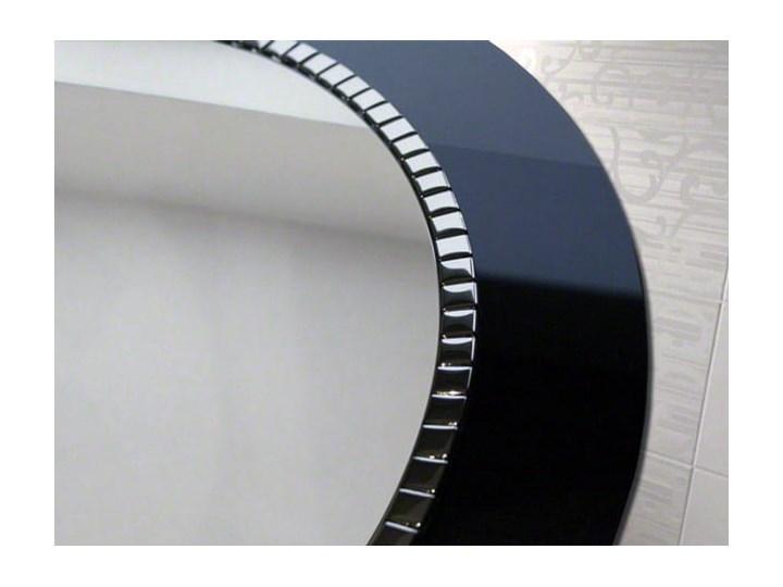 Lustro Bracelet – łazienkowe glamour czarne Okrągłe Prostokątne Ścienne Pomieszczenie Salon Lustro z ramą Pomieszczenie Łazienka