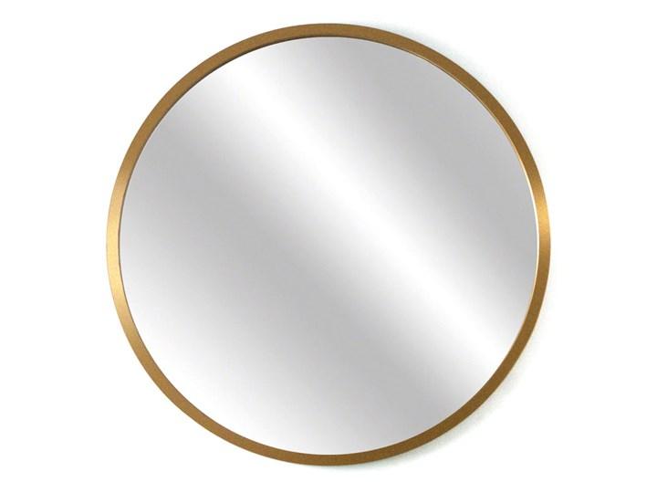 Lustro Scandi – okrągłe w złotej ramie Styl Nowoczesny