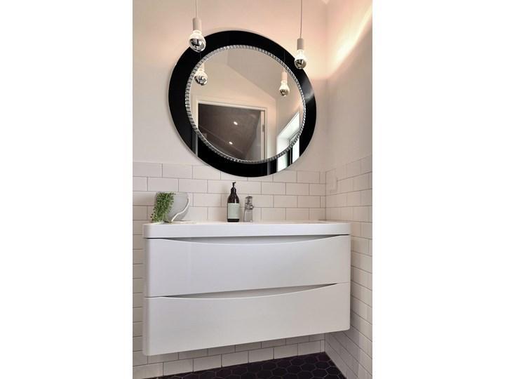 Lustro Bracelet – łazienkowe glamour czarne Okrągłe Prostokątne Ścienne Lustro z ramą Pomieszczenie Salon