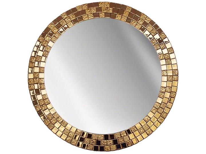 Lustro Aurea Gold Okrągłe Ścienne Lustro z ramą Pomieszczenie Przedpokój