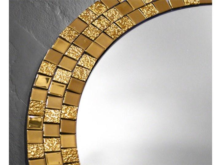 Lustro Aurea Gold Pomieszczenie Przedpokój Lustro z ramą Okrągłe Ścienne Pomieszczenie Łazienka
